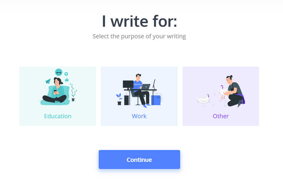 purpose of your writing