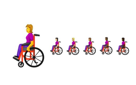 Among 230 new emojis will be wheelchairs, guide dogs and