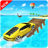 Water Car Surfer Driving: Floating Car Racing Game