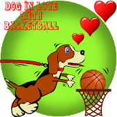 Dog in love with Basketball