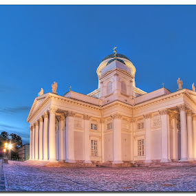 Helsinki Cathedral by Henrik Andersen - Buildings & Architecture Places of Worship ( cs5, hdr, le, church, blue hour, helsinki, h-l-andersen, cathedral )