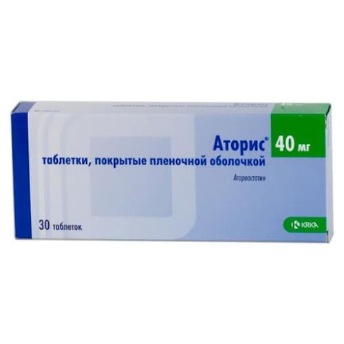 Аторис таб.п/о 40мг №30