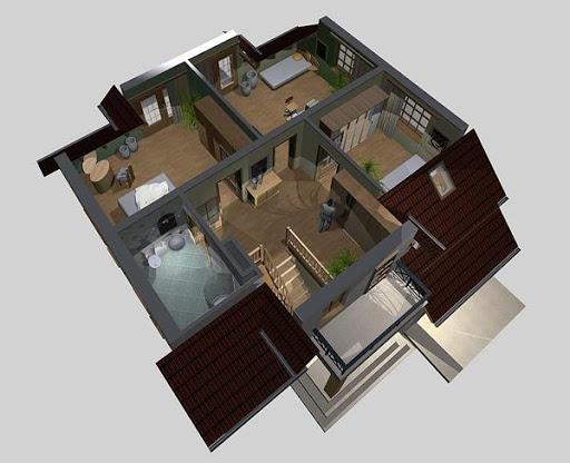 APS 073 - Rzut poddasza 3D