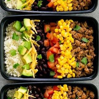 Turkey Taco Bowls with Cauliflower Rice Meal Prep Recipe
