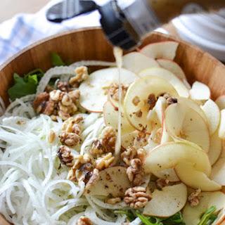 Fennel Apple Salad with Walnuts & Arugula