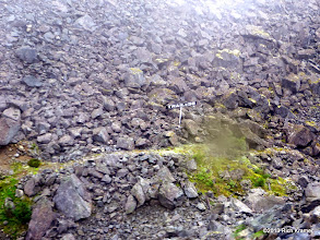 """Photo: The """"Trail of '98"""" shows the actual trail that gold seekers trekked to the gold fields.  The Canadian authorities required each miner to carry 2000 pounds, about a year's worth of food and supplies, up into the Yukon and turned those who didn't have enough back."""