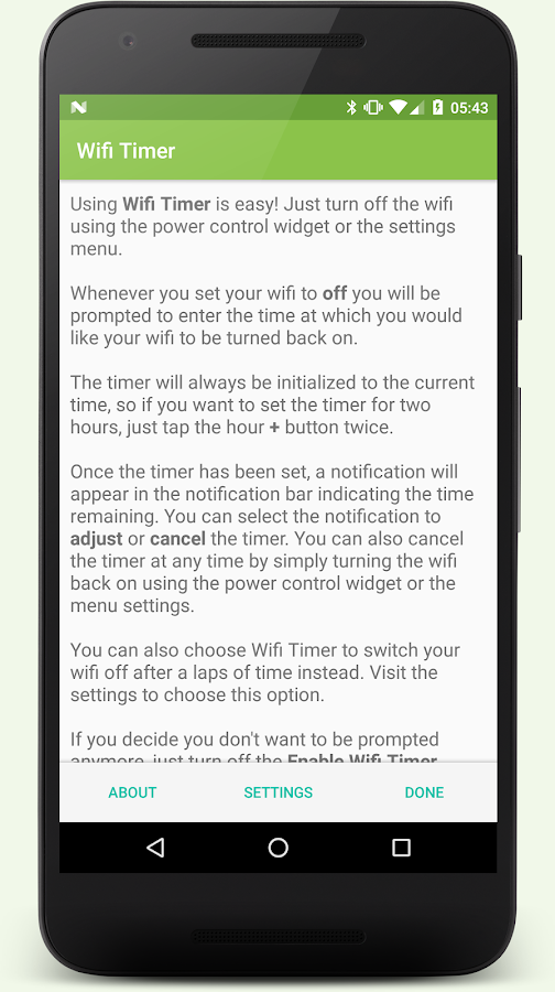 Wi-Fi Timer- screenshot