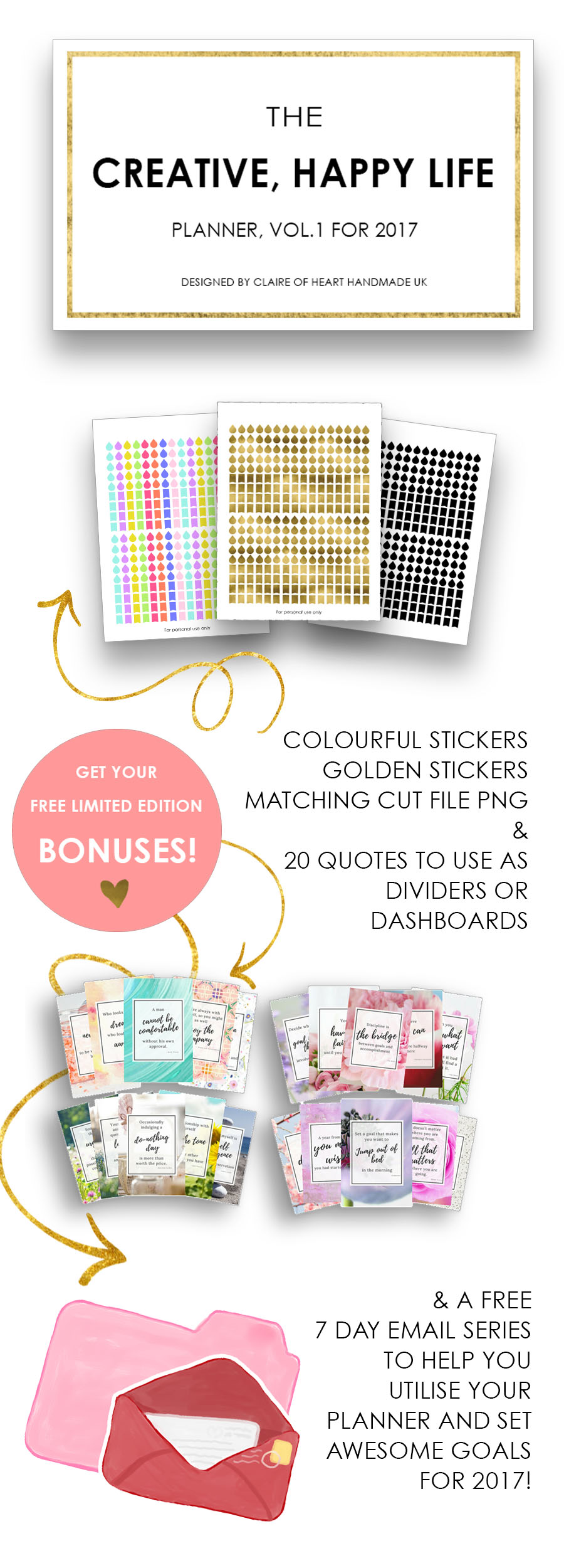 Creative Happy Life Planner Bonuses