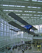 Photo: Biplane Aloft, Sea-Tac Terminal, Seattle, Washington