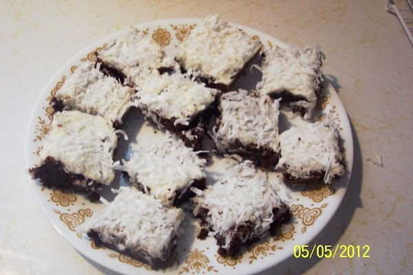 Fudge Brownies With   Butter Rum Frosting Recipe