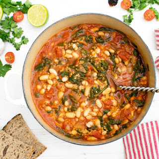 Spinach & Bean Chipotle Casserole [vegan]