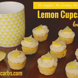 Low Carb Lemon Cupcakes