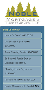 Noble Mortgage Calculator- screenshot thumbnail