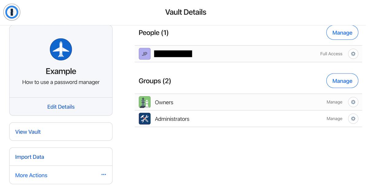 adding people to vault—managing vault.