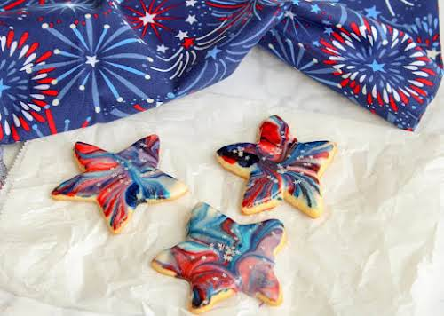 "Star Spangled Cookies ""Sam from Sugar Spun Run's Star Spangled Cookies jumped..."