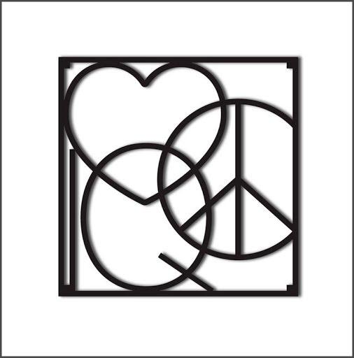 Grytunderlägg Peace & Love