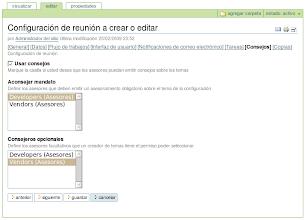 Photo: I18n y l10n al Español del producto PloneMeeting - Configuración de reunión - Editar Consejos