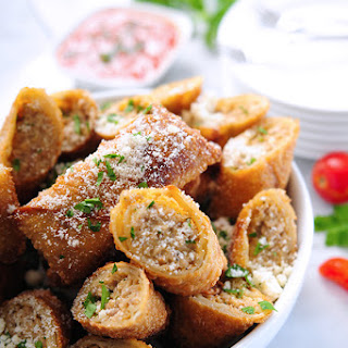 Italian Egg Rolls with Spicy Sausage & Fontina
