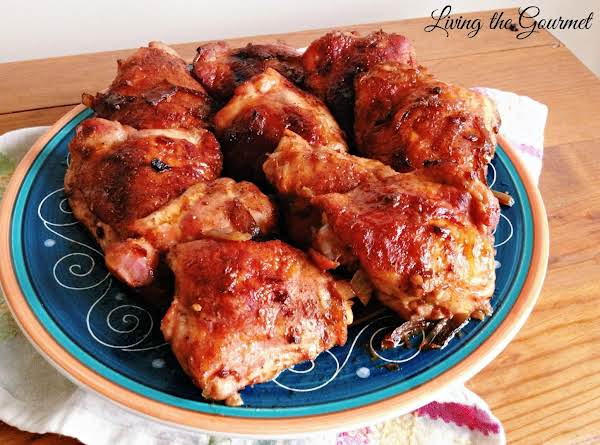 Chicken Thighs With Homemade Barbeque Sauce Recipe Just A Pinch