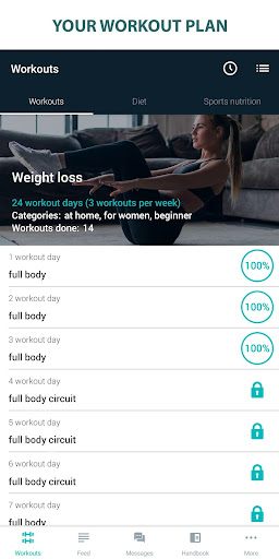 Fitness Online - weight loss workout app with diet ss1