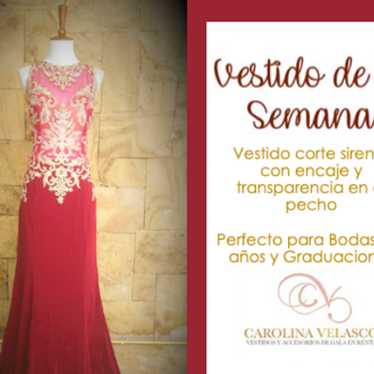 Renta De Vestidos De Gala Carolina Velasco Tienda De Ropa