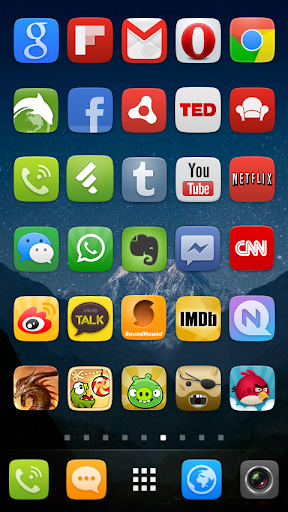GO Launcher EX UI5.0 theme screenshot 7
