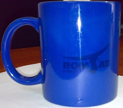 Photo: Чашка магическая синего цвета для компании Romsat. На фото - холодная чашка.