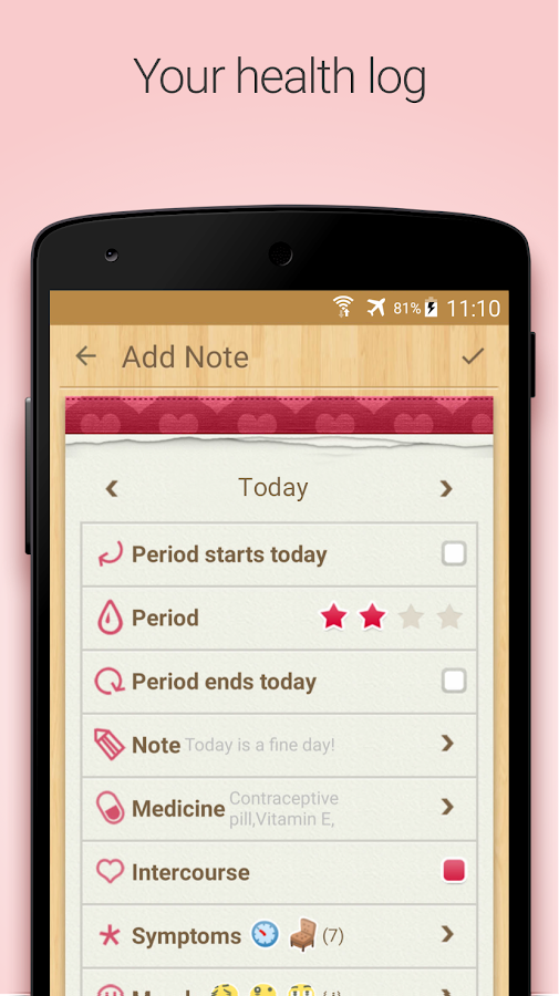 Screenshots of Period Tracker, My Calendar for iPhone