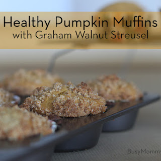 Healthy Pumpkin Muffins with Graham Walnut Streusel