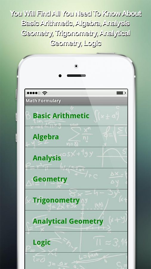 Math Formulary- screenshot