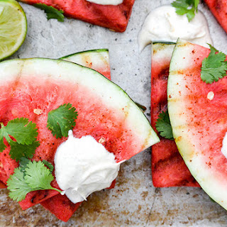 Spicy Grilled Watermelon with Crème Fraîche