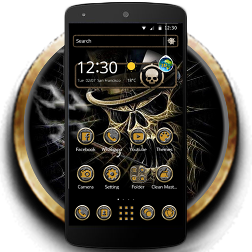Gambling Skull Black Theme