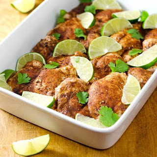 Chili Roasted Chicken Thighs Recipe