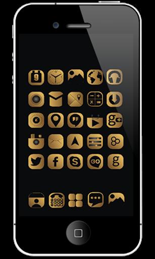 Black Gold Iconpack Theme