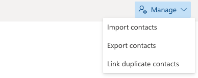Outlook Menu Displaying the Options to Export and Import Contacts
