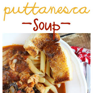 Chicken Puttanesca Soup.
