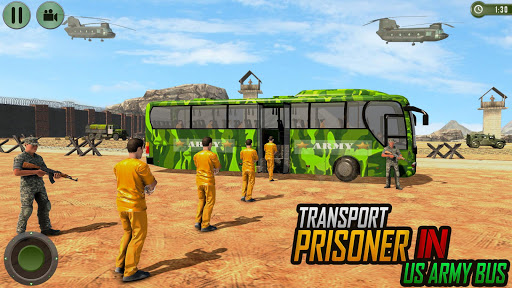 Offroad US Army Transport Prisoners Bus Driving  screenshots 1