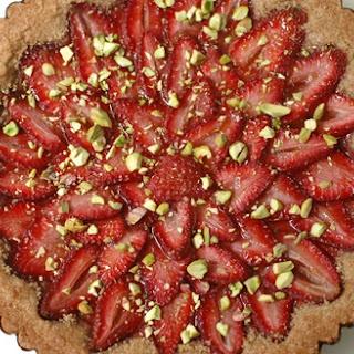 Vegan Strawberry Tart with Whole Grain Crust.