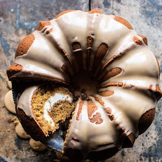 Cream Cheese Swirled Brown Sugar Pumpkin Coffee Cake..