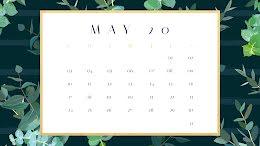 Eucalyptus Monthly - Monthly Calendar item