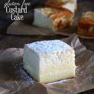Gluten Free Custard Cake.