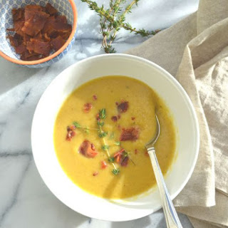 Roasted Butternut Squash Soup with Crispy Bacon