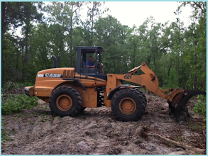Photo: Clearing the land. Photo by Lake Weir Living