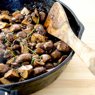 Roasted Garlic Sauteed Mushrooms