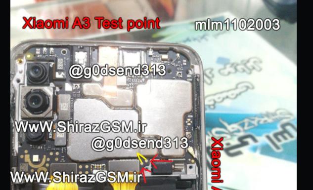Xiaomi Mi A3 test point