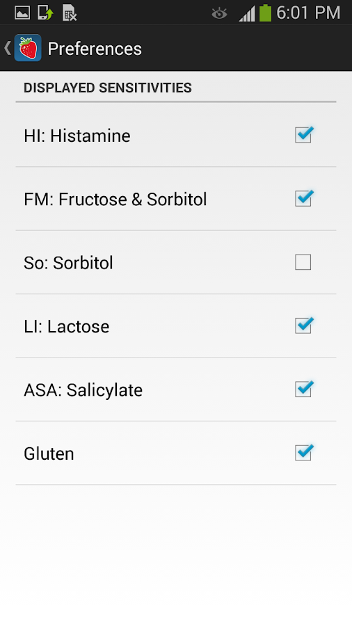 Food Intolerances- screenshot