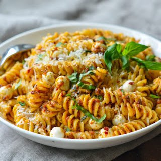Pasta with Sun-Dried Tomatoes & Mozzarella Pearls Recipe