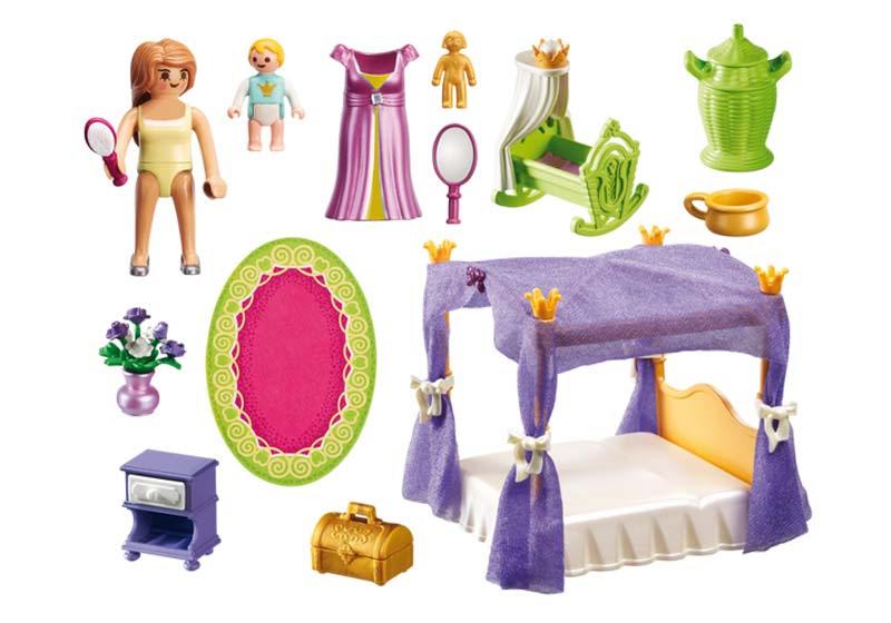 Contenido de Playmobil® 6851 Dormitorio de Princesa con Cuna