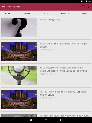 The Tabernacle Choir screenshot 7