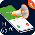 Caller name announcer , speaker and SMS talker icon